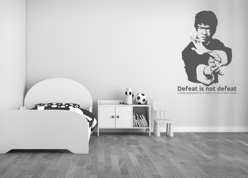 Wall Stickers Sports Bruce Lee Wall Stickers Kids Room - Wall decals kids room