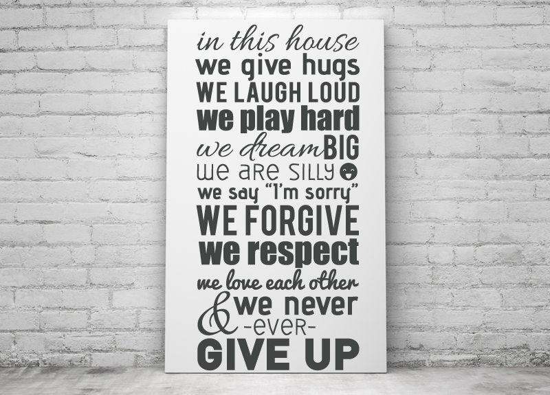 Wall Stickers Quotes In This House English Version Wall