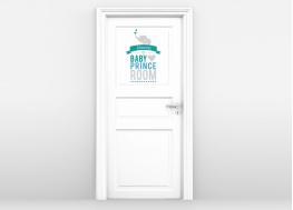 παιδικό δωμάτιο, πρίγκιπας, πόρτα δωματίοιυ