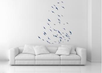 σμήνος πουλιών, πουλιά σε πτήση