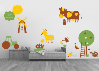 φάρμα με ζωάκια, farm with animals