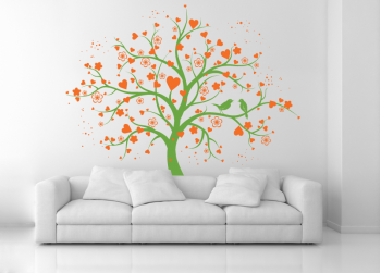 Love tree, δέντρο με καρδιές