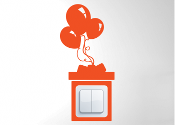 Δωράκι με μπαλόνια, Gift with balloons