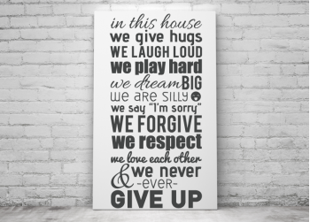 In this house, quote