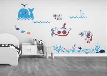 βυθός, κάτω απο τη θάλασσα, βινύλιο, παιδικό δωμάτιο, υποβρύχιο