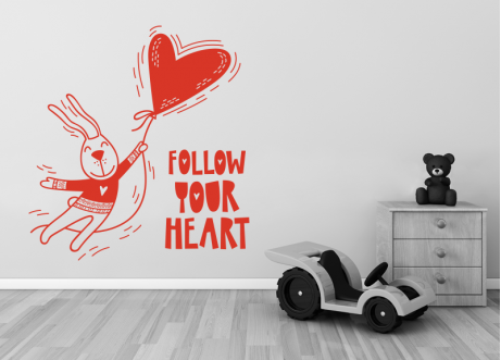 Follow your heart rabbit
