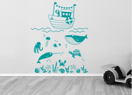 My little ship wall decal vinyl